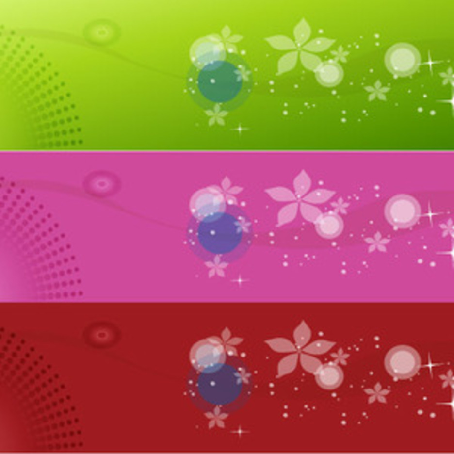 Three Colored Vector Design