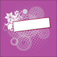 Floral Banner In Purple Background