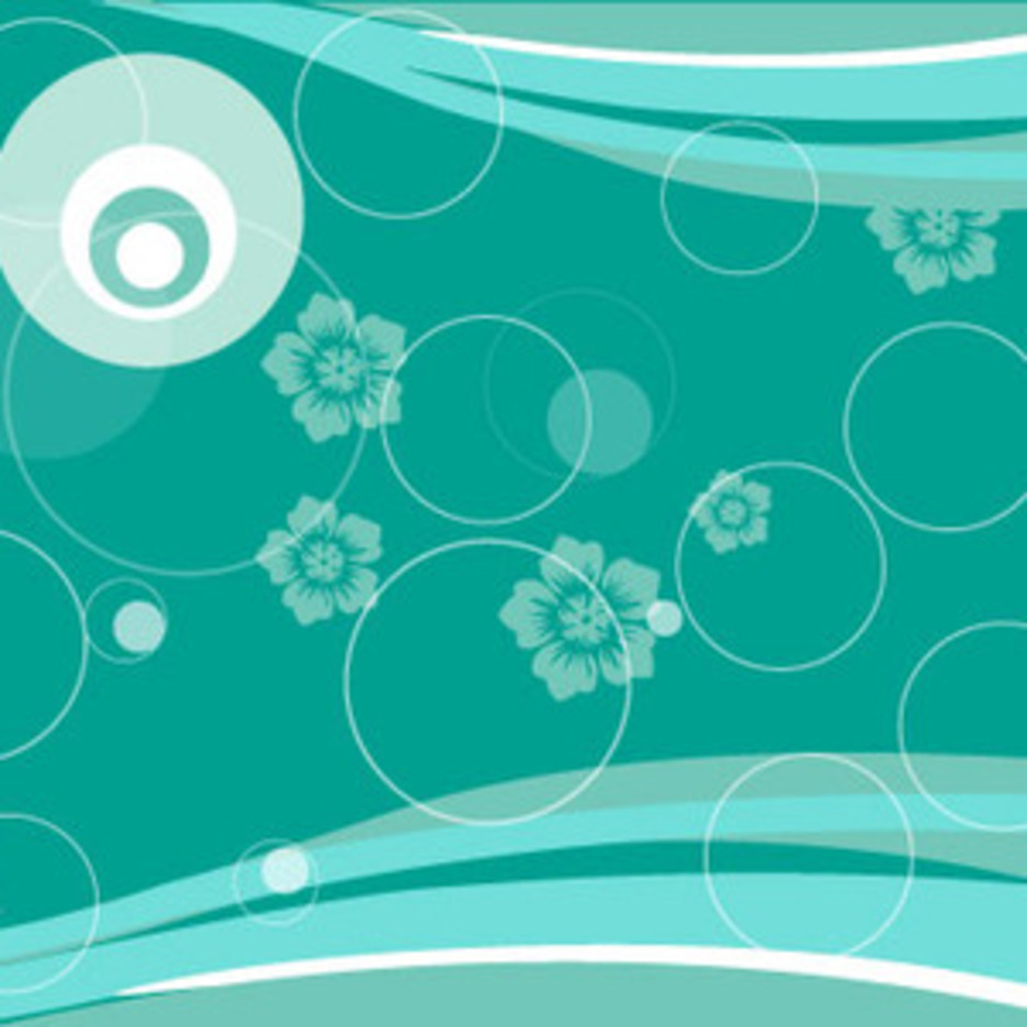 Circles In Blue Floral Abstract Vector