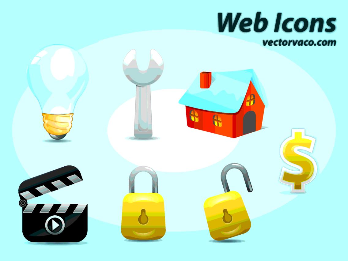 Web Icons Vector By Vectorvaco.com