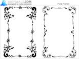 Floral Frames Set 1