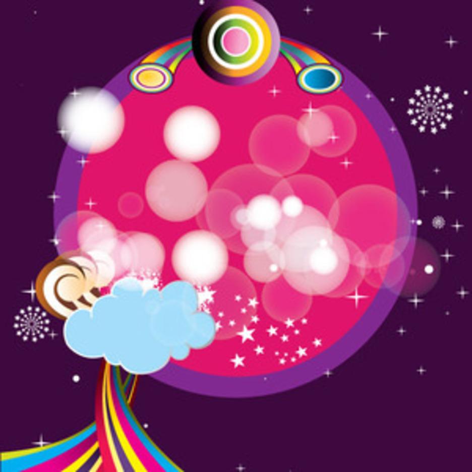 Pink Purpled Frame Free Art Design