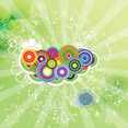 Colored Circled Green Dotted Vector