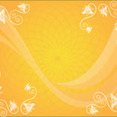 Orange Background With Ornament And Swirls