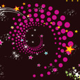 Colored Stars In Black Vector Background