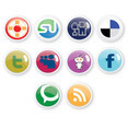 10 Social Icons Free Vector Design