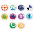 10 Social Icons Free Vector Design