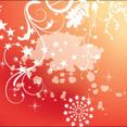 Orange Swirls With White Splash Free Design