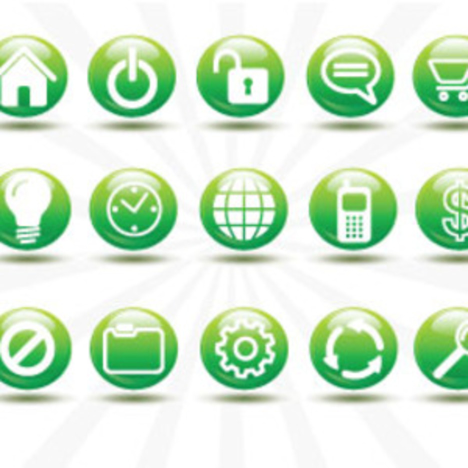 15 Element Icon Free Vector Design