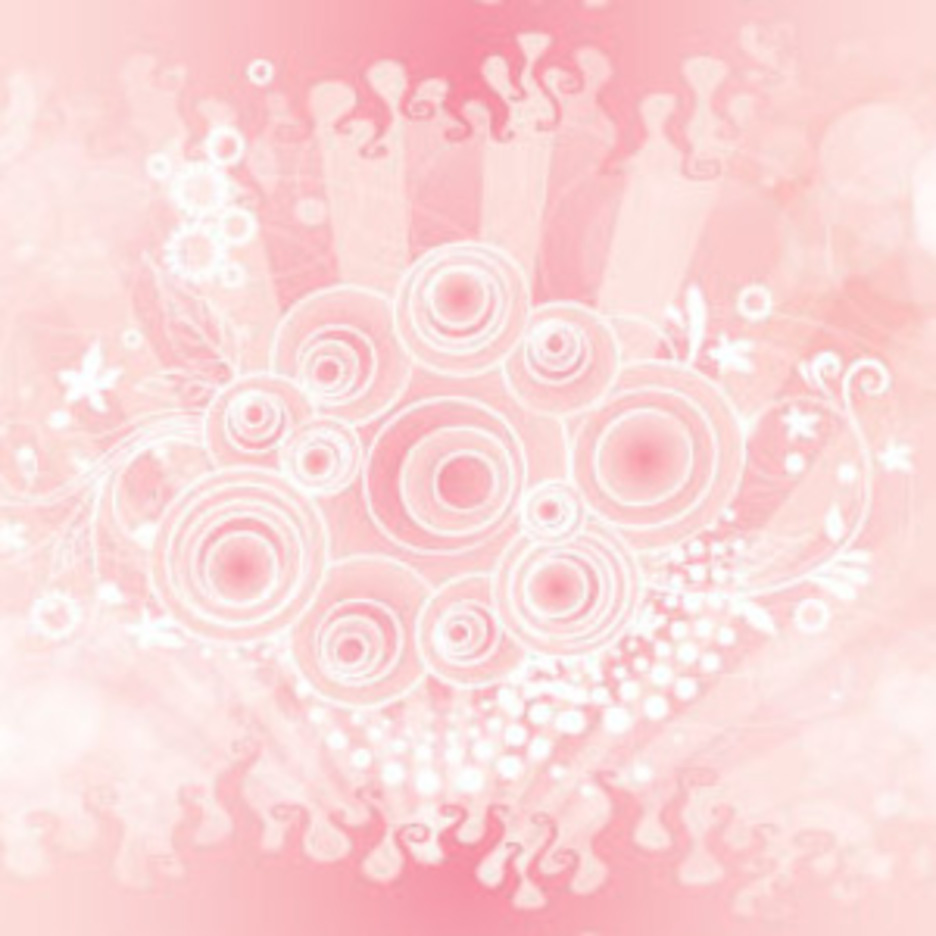 Retro Pinked Floral Art Free Design