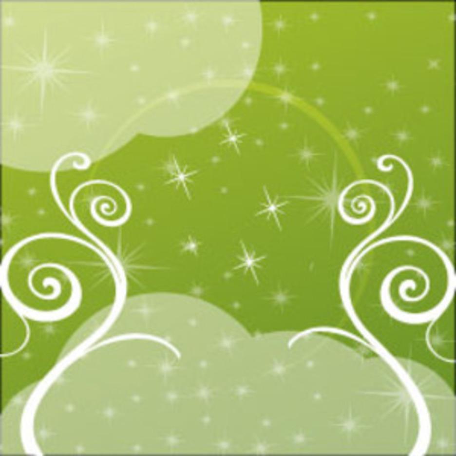 Green Swirls With Transprent Design