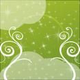 Green Swirls With Transprent Design