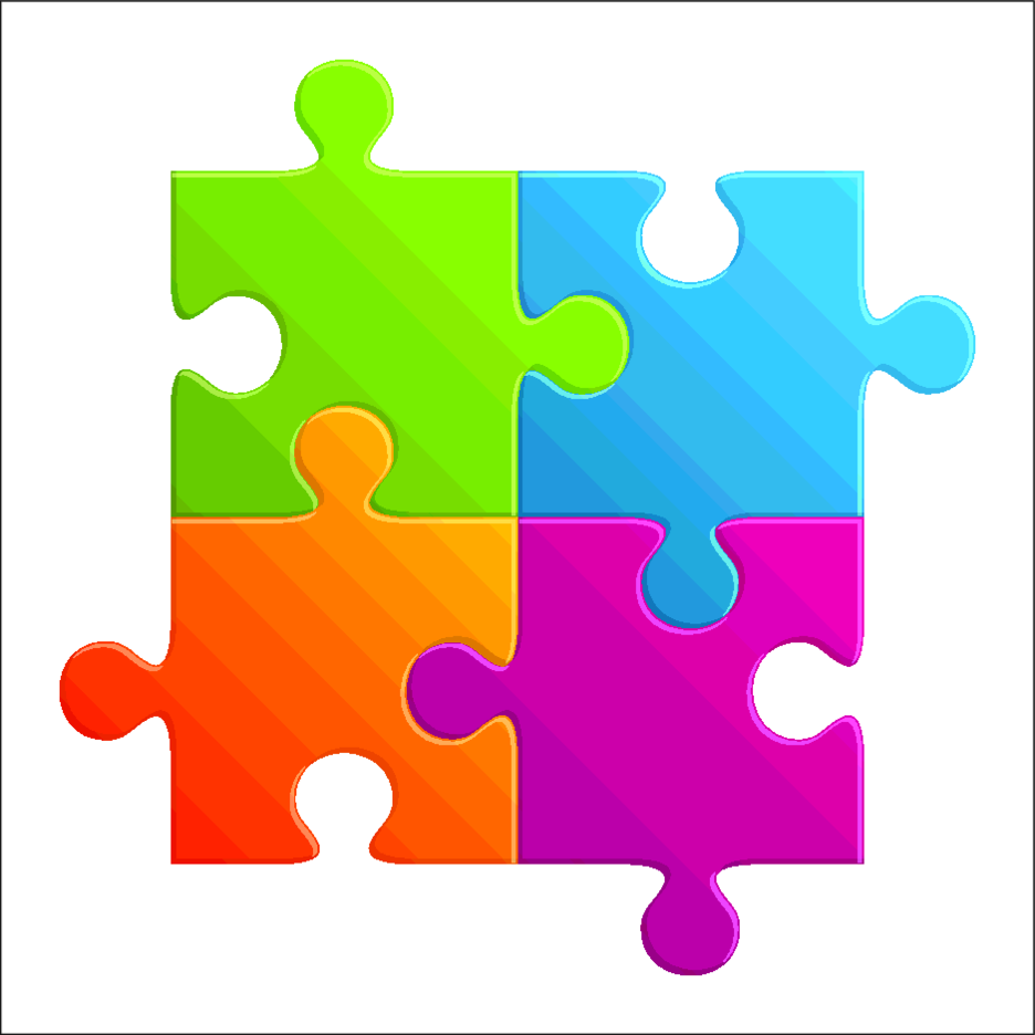 Colourful Puzzle Parts
