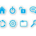 8 Web Icons Free Vector