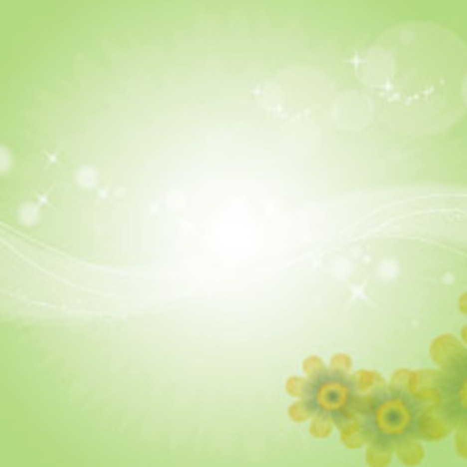 Yellow Flowers In Green Background Design