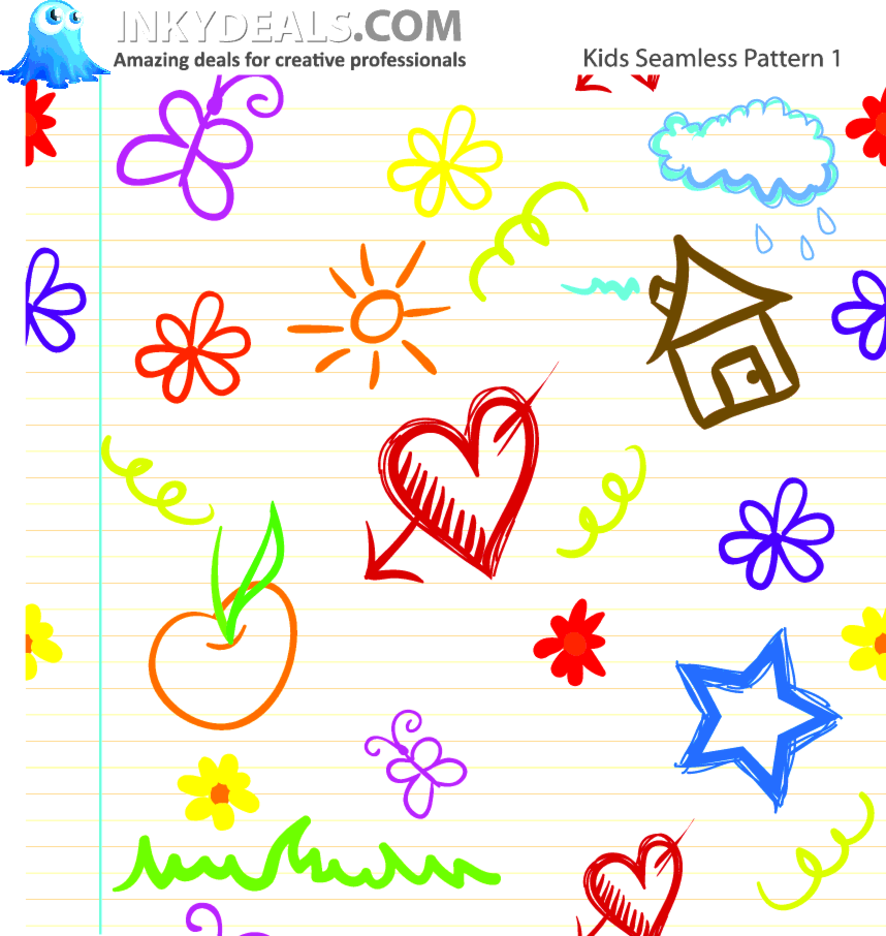 Kids Seamless Pattern 1