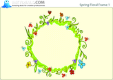 Spring Floral Frame 1