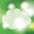 Clouds In Green Sky Free Vector