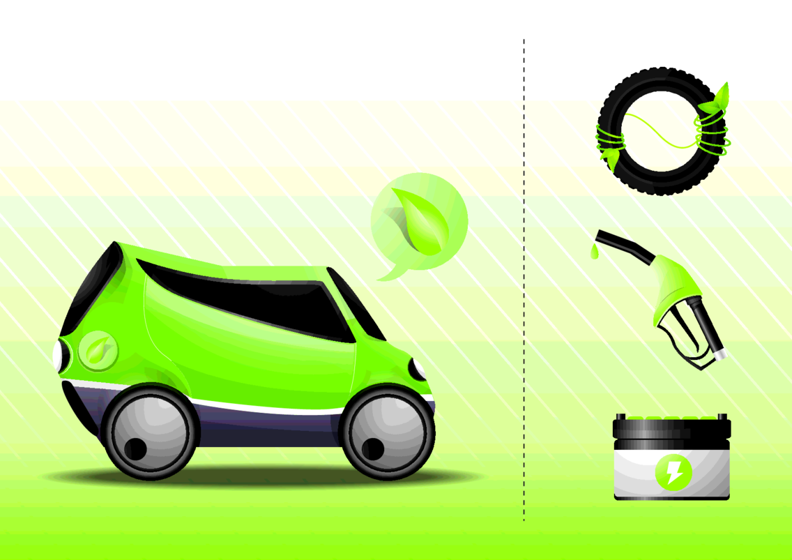 Eco Car Vector By Vectorvaco.com
