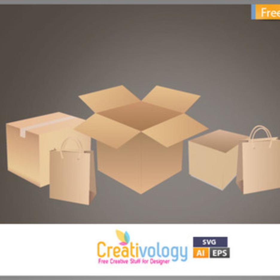 Free Vector Shipping Box