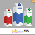 Free Vector Milk Pack