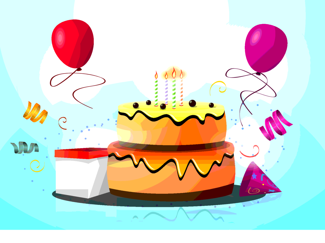 Birthday Cake Vector By Vectorvaco.com
