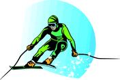 Skier Vector Image VP