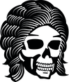 Skull With Cool Hair Vector