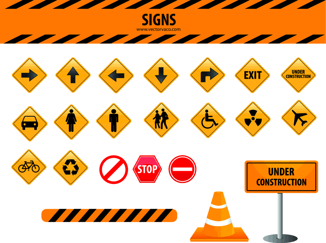 Signs Vector Set By Vectorvao.com