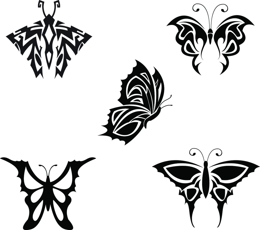 Tribal Butterfly By Vectorvaco.com