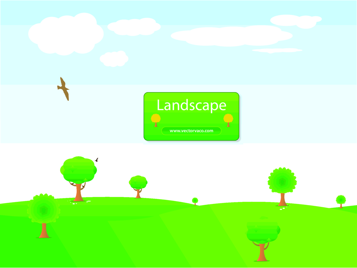Landscape Background Illustration By Vectorvaco.com