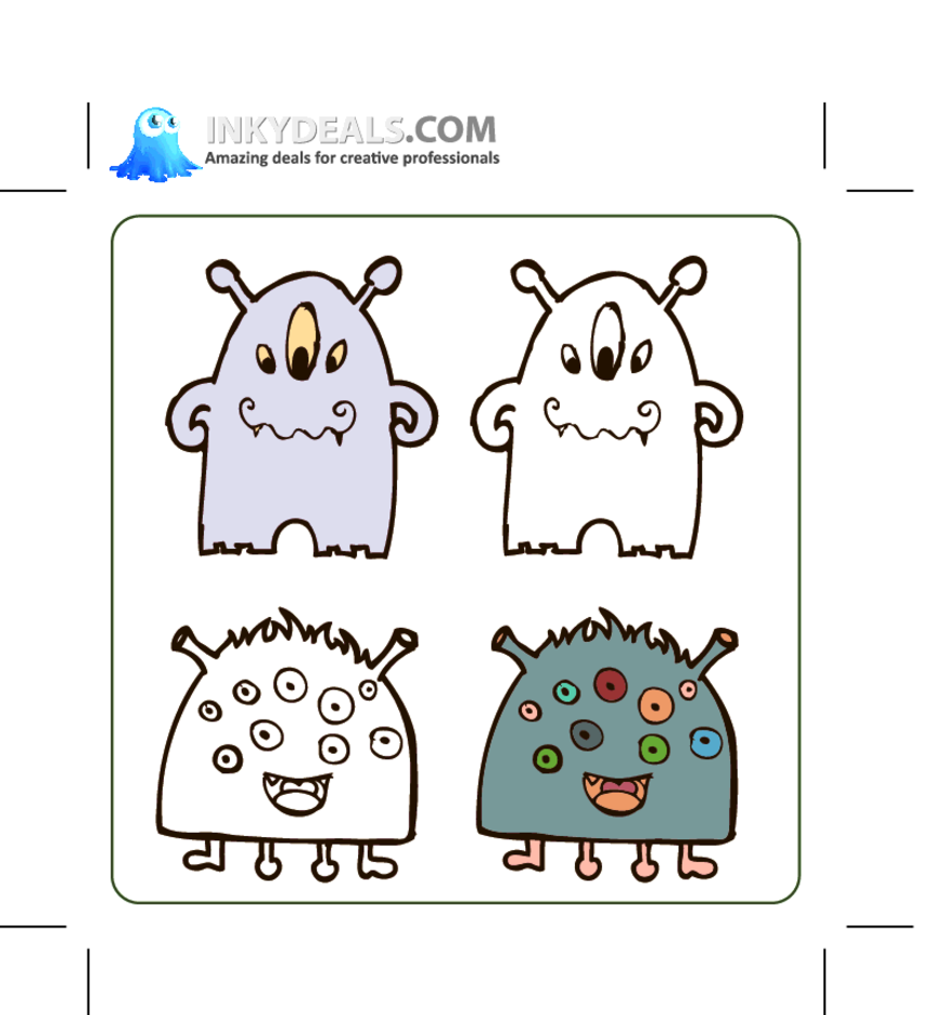 Vector Monsters Set 1