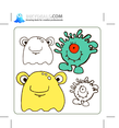 Vector Cute Monsters 3