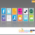 Free Stamp Social Icon Pack