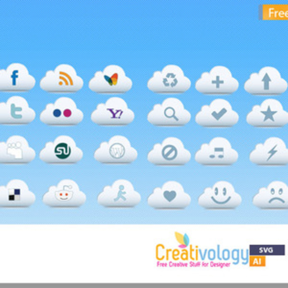 Free Cloud Icon Pack