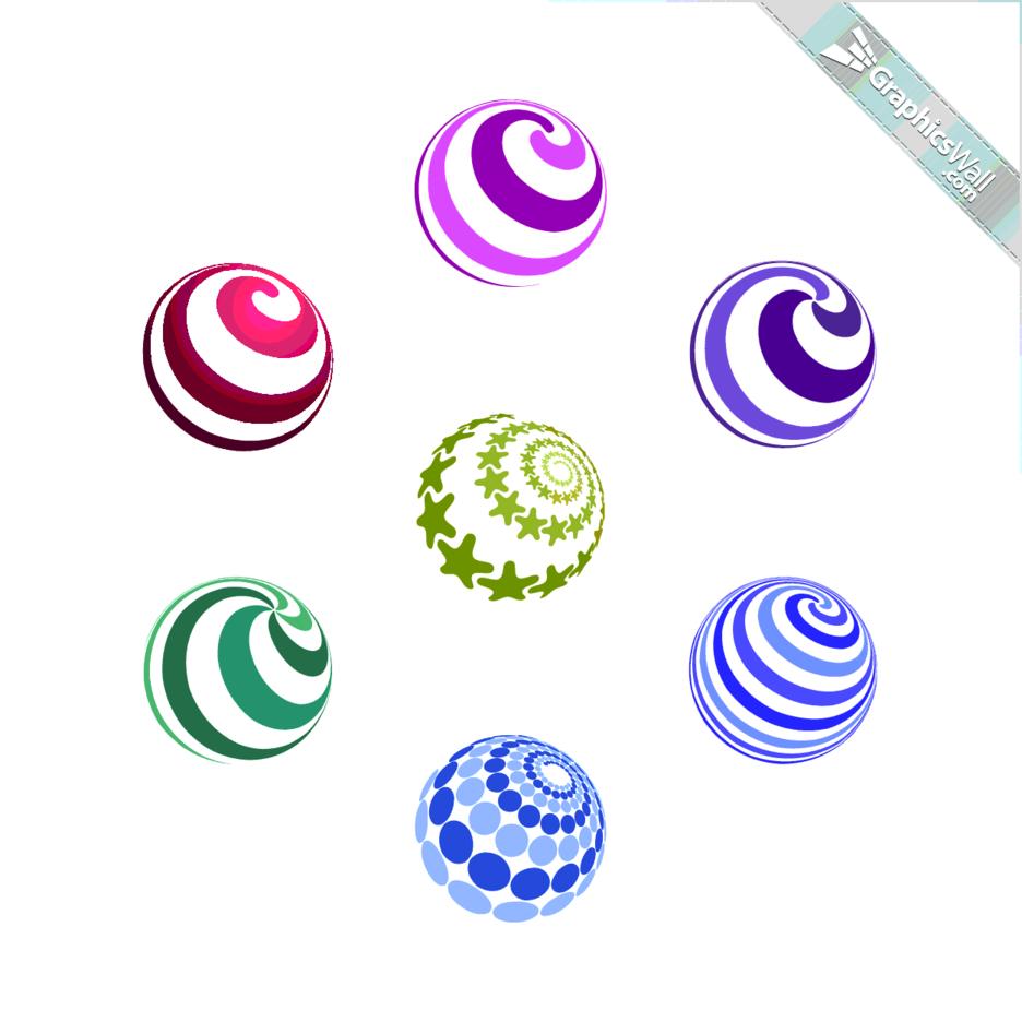 7 Spiral Vector Spheres