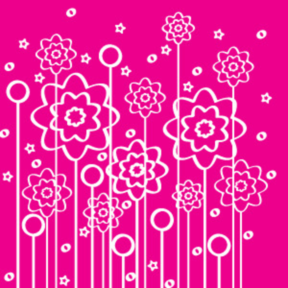 Flowers Of Lines Background Design