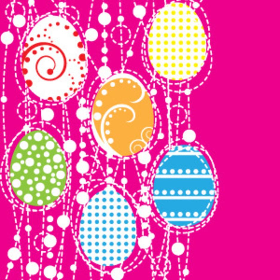 Vector Easter Eggs Design