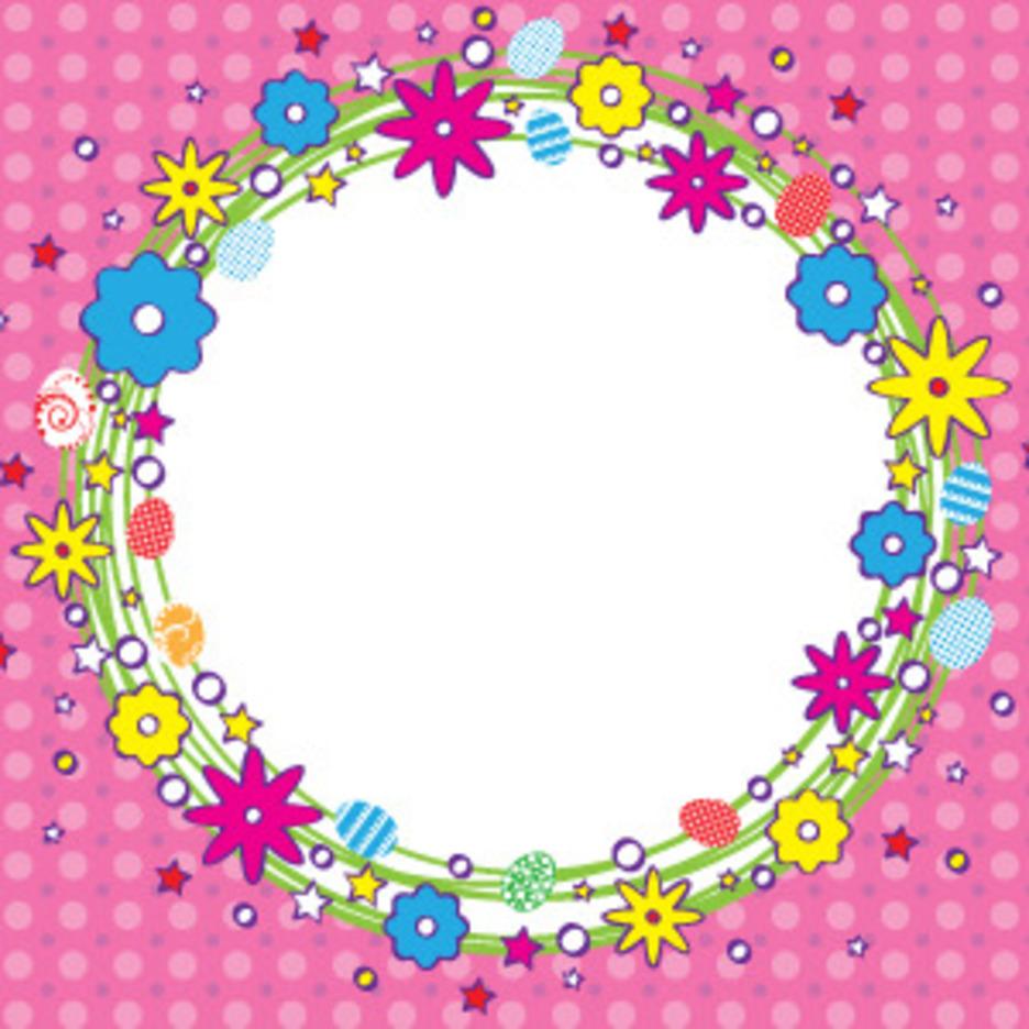 Cartoonized Easter Wreath Banner