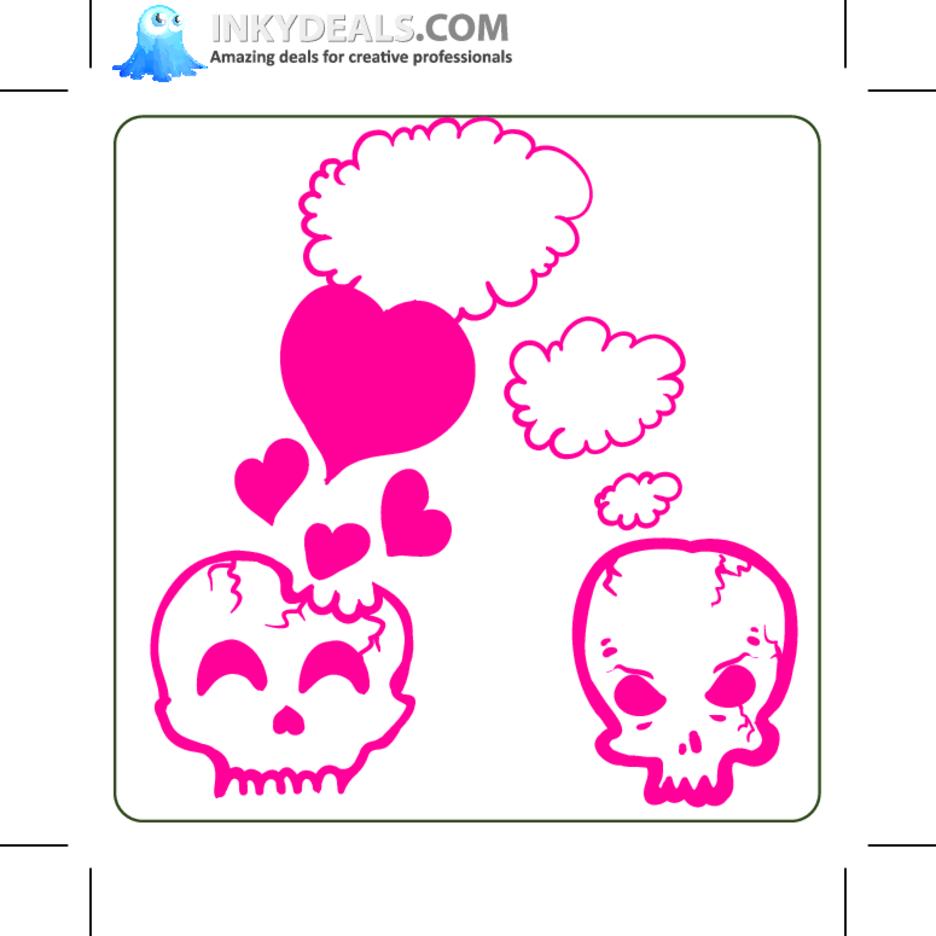 Emo Skulls 4