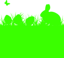 Easter Vector Silhouette