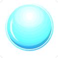 Glossy Blue Circle