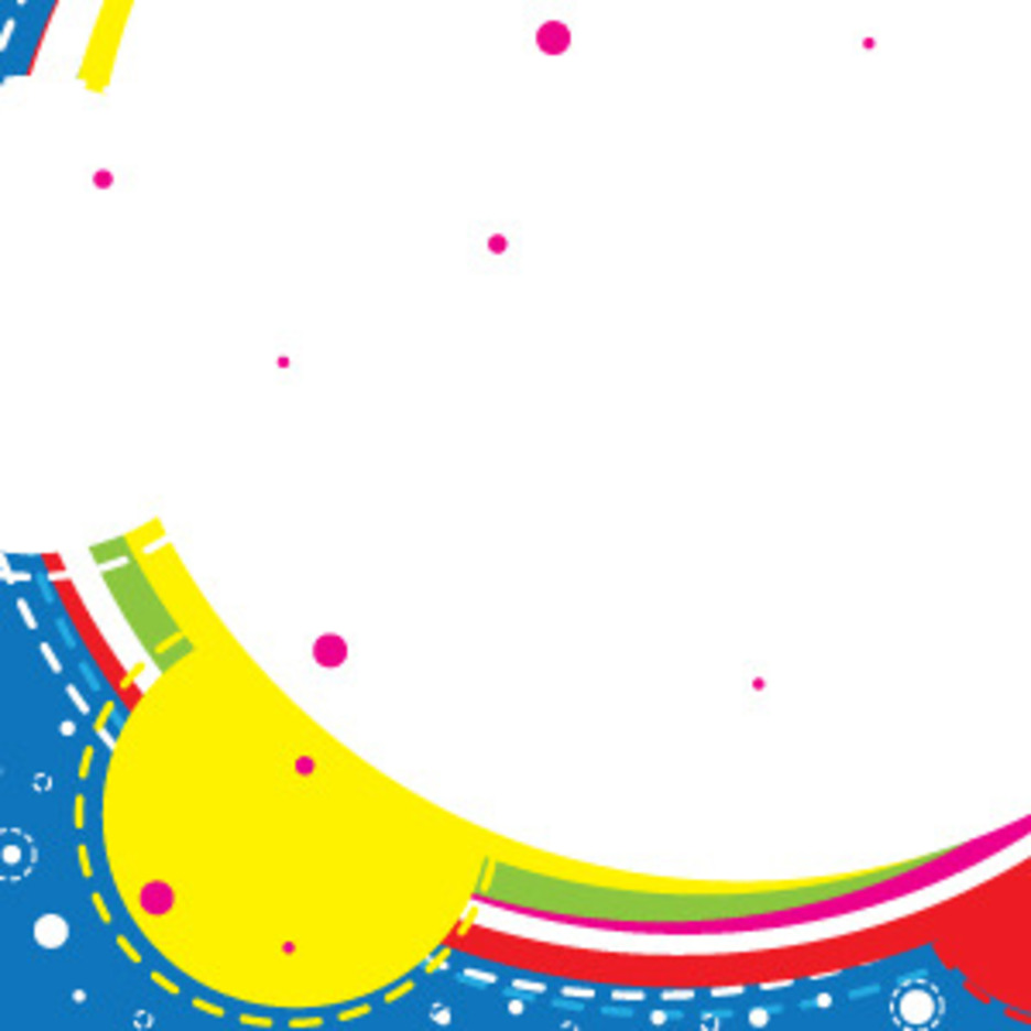 Colorful Banner With Circles