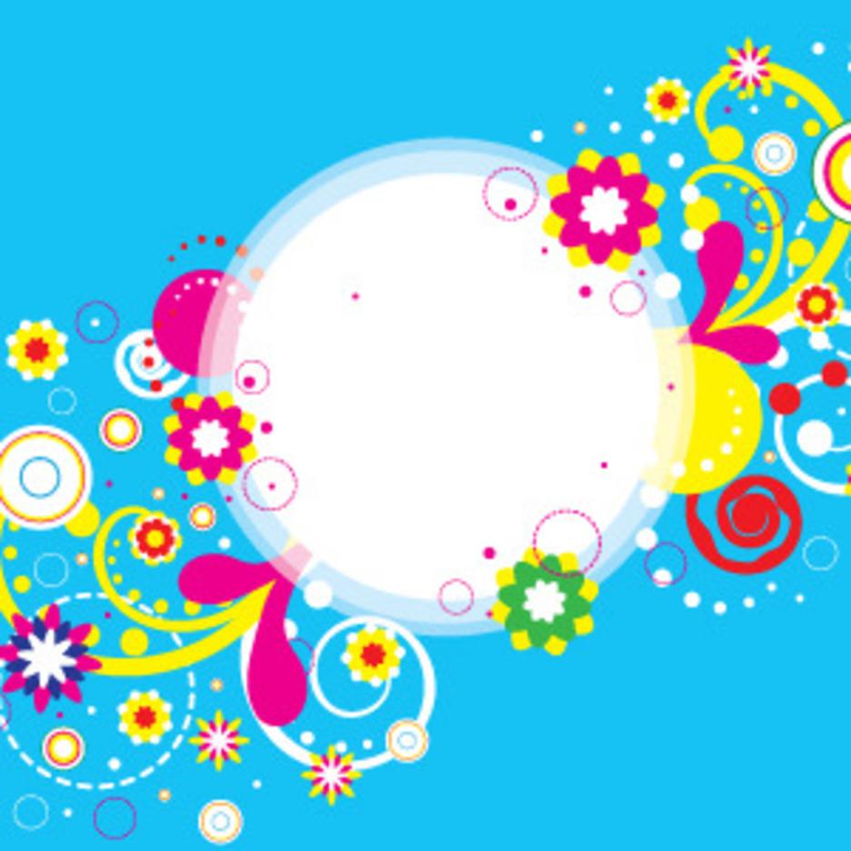 Abstract Flower Banner Design