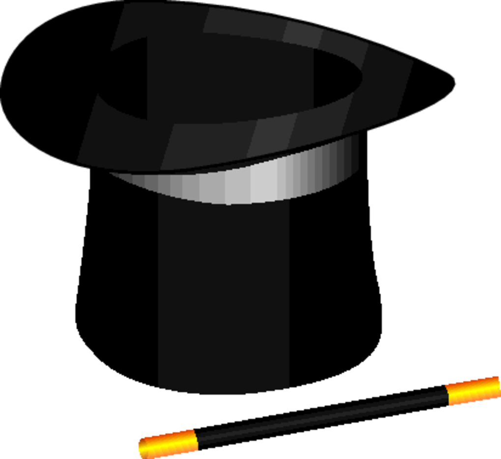 Free Vector Magic Hat And Wand