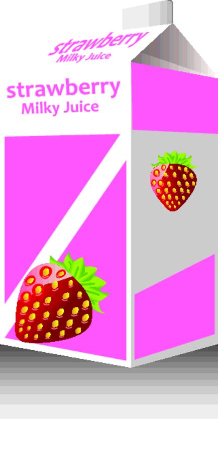 Free Vector Strawberry Milk Pack