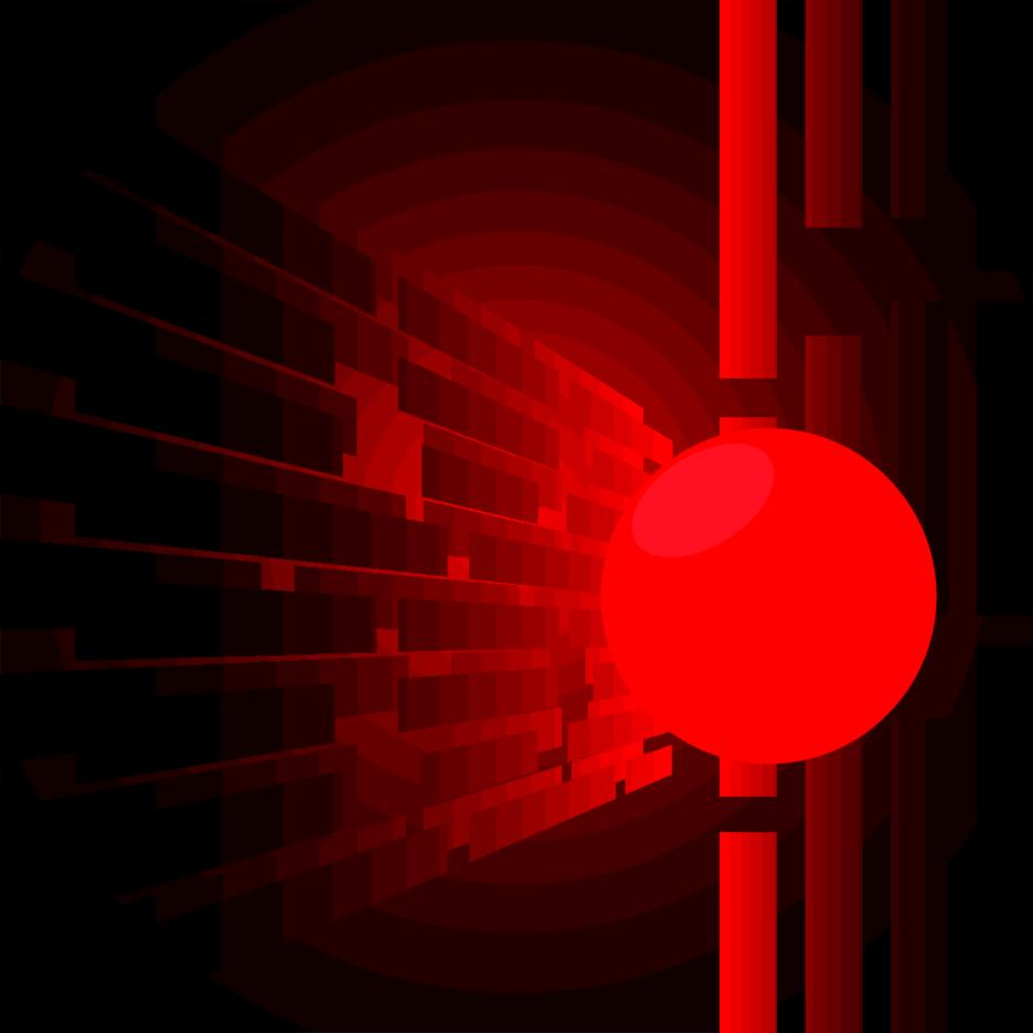 Abstract 3d Pinball