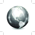 Glossy Vector Earth Globe
