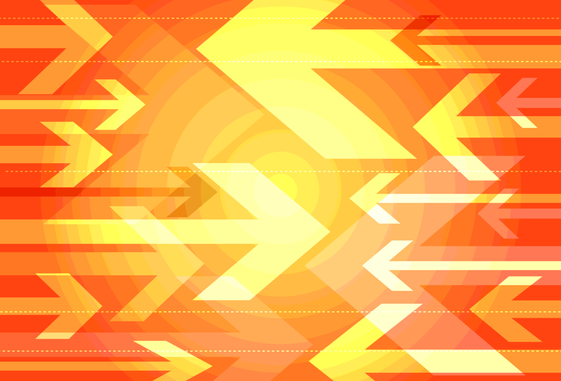 Orange Arrows Background