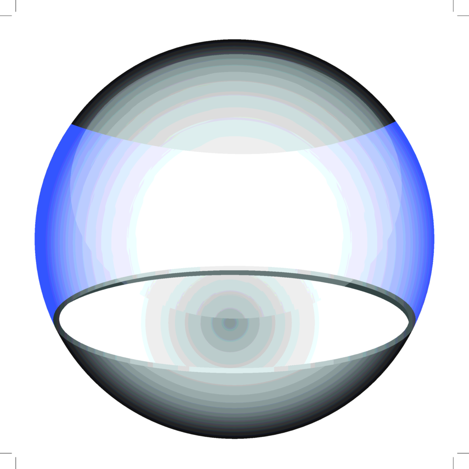 Glossy Blue Vector Sphere